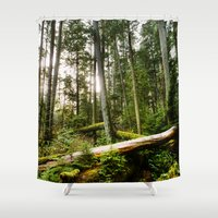 forrest Shower Curtains featuring Forrest by ILIA PHOTO + CINEMA