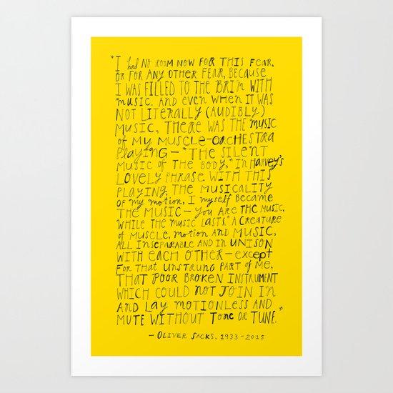 Remembering Oliver Sacks Art Print