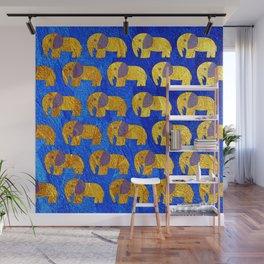 Golden elephant ecopop Wall Mural