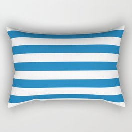 Biscayne Blue Horizontal Tent Stripes Florida Colors of the Sunshine State Rectangular Pillow