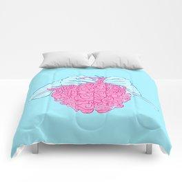 Knitting a brain Comforters