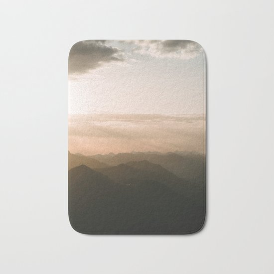 Mountain Sunrise in the german Alps - Landscape Photography Bath Mat