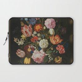 Ambrosius Bosschaerts the Elder - Bouquet of Flowers in a Stone Niche Laptop Sleeve