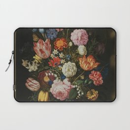 Ambrosius Bosschaerts the Elder - Bouquet of Flowers in a Stone Niche Laptop Sleeve