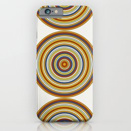 Retro Circles iPhone Case