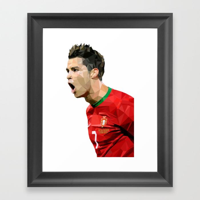 Cristiano Ronaldo Portugal Framed Art Print by Sachin76 FRM8630352