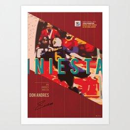 #6 Iniesta // World Cup • Football Stars  Art Print