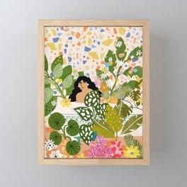 Bathing with Plants Framed Mini Art Print