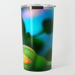 macro photo of a flower Travel Mug