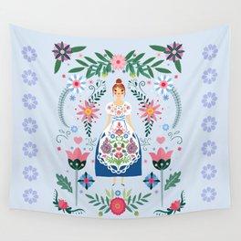 Fairy Tale Folk Art Garden Wall Tapestry