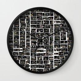 Moodboard Abstrait - Moodboard Abstract  Wall Clock