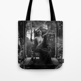 XI. Justice Tarot Card Illustration Tote Bag