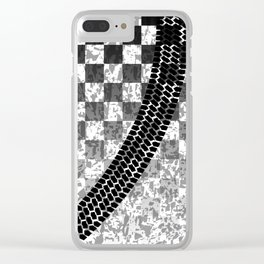 Flag Skid Mark Clear iPhone Case