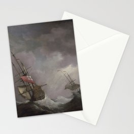 Willem van de Velde the Younger - An English Ship at Sea Running In a Gale Stationery Cards