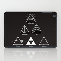 triangle iPad Cases featuring Triangle by le.duc