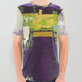 Controversy Prince Deep Purple Abstract Painting Modern Art All Over Graphic Tee