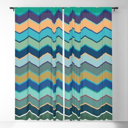 Colorful Wave II Blackout Curtain