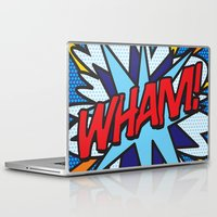 comic book Laptop & iPad Skins featuring Comic Book WHAM! by The Image Zone