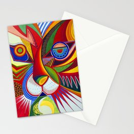 Tiger Abstract Stationery Cards
