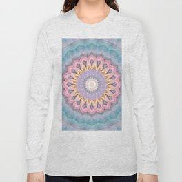 Mandala aquamarin Long Sleeve T-shirt