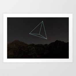 TRIANGULAR SPACE AND SHAPE Art Print