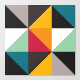 Geometric Pattern #30 (triangles) Canvas Print