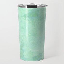 Blue Gray Cotton Fluff Travel Mug