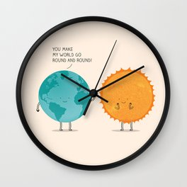 You make my world go round and round! Wall Clock