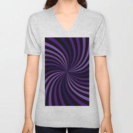 Purple Hypnotizing Swirl Unisex V-Neck