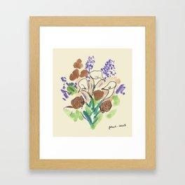 Bouquet of Calla Lillies by John E. Framed Art Print