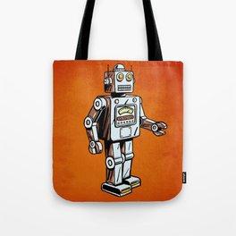 Retro Robot Toy Tote Bag