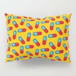 Deadly but Colorful. Pills Pattern Pillow Sham