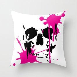 Pink Skull Throw Pillow