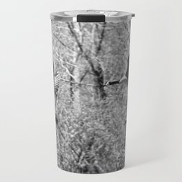 Canada Geese in Black & White Travel Mug