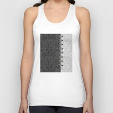 Lacing . 1 . Black and white snake. l Unisex Tank Top