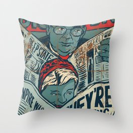 They're Watching Us Throw Pillow