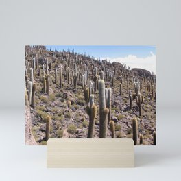 Giant Cactus, Salar de Uyuni, Bolivia Mini Art Print