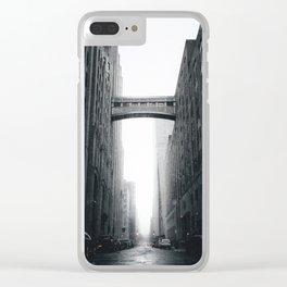 Snow Bridge in New York Clear iPhone Case