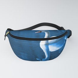 Beautiful Swan Blue Lake Fanny Pack