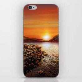 Idwal Lake Sunset iPhone Skin