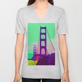 Golden_Gate_Bridge_005 Unisex V-Neck
