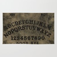 ouija Area & Throw Rugs featuring Ouija by Andrea Raths