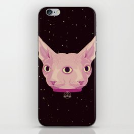 Two-Faced Sphynx From Outer Space iPhone Skin