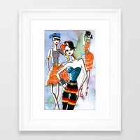 marc jacobs Framed Art Prints featuring Marc Rendition4 by Ashley Love