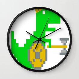 8-Bit-Viking-T-Rex Wall Clock