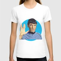 spock T-shirts featuring Spock by Connor Corbett