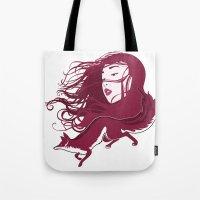 kitsune Tote Bags featuring Kitsune by Stevyn Llewellyn