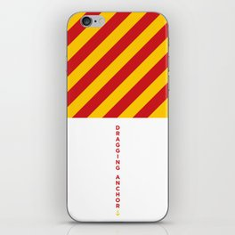 Dragging Anchor • Boat Flags • Nautical iPhone Skin