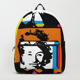 ENID BLYTON (FUNKY-COLOURED POP ART COLLAGE) Backpack