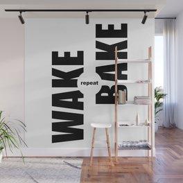 Wake Bake Repeat Wall Mural